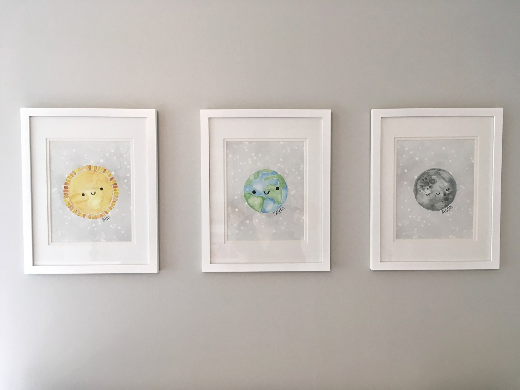 Outer Space Nursery Reveal for Baby Boy Nursery or Gender Neutral Nursery