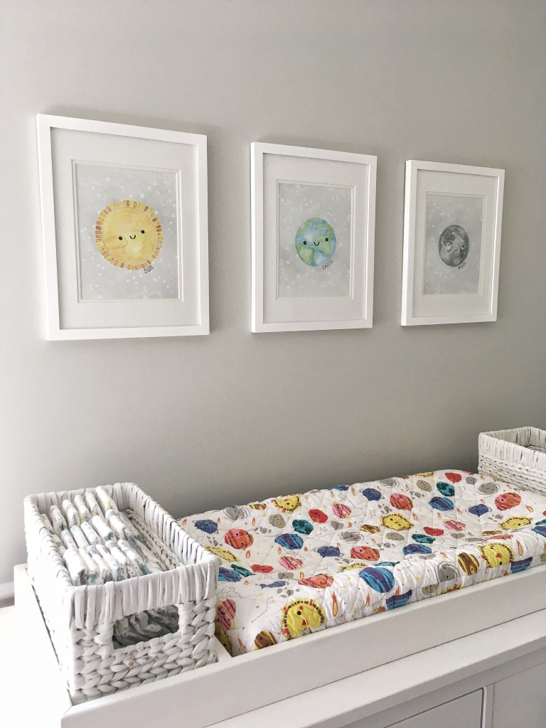 Outer Space Nursery Reveal for Baby Boy Nursery or Gender Neutral Nursery