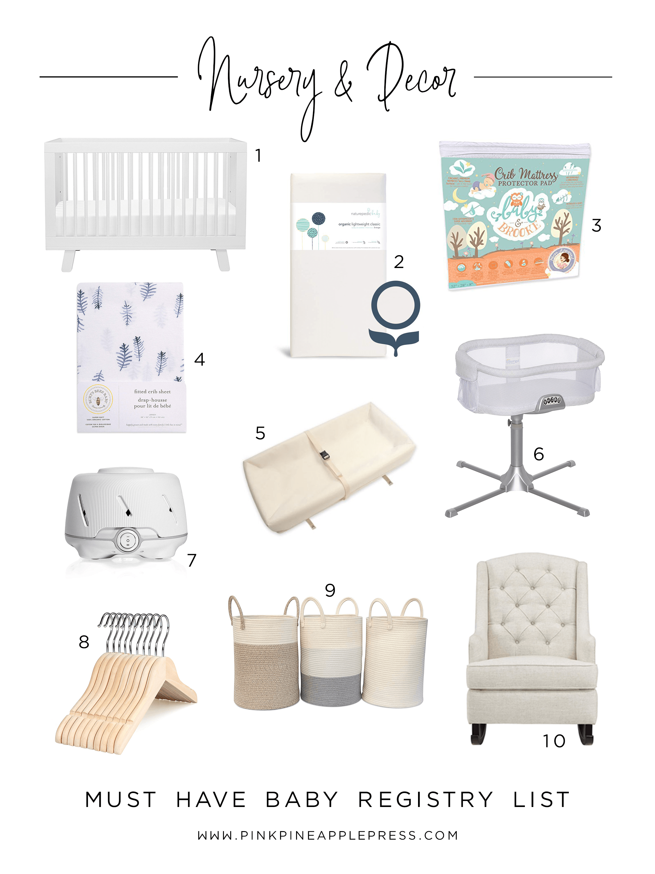 Must Have Baby Registry Items - Nursery & Decor