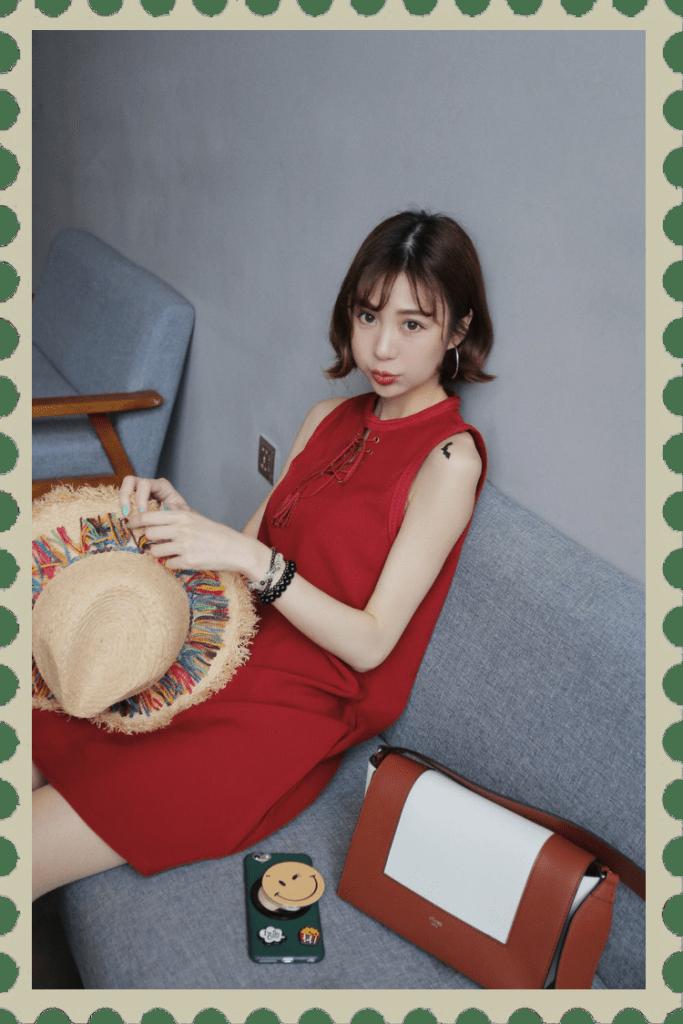 夏日穿搭、韓系混搭、大紅時尚