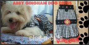 abby gingham dog dress