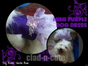 mimi purple dog dress