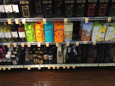 wine at grocery store