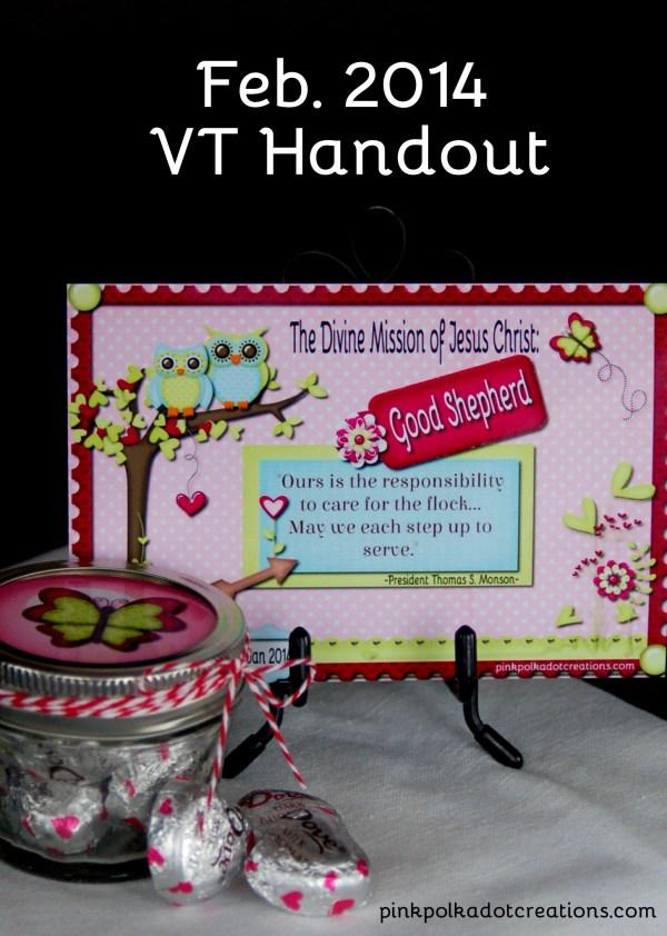 Feb. 2014 Visiting Teaching Handout - Pink Polka Dot Creations
