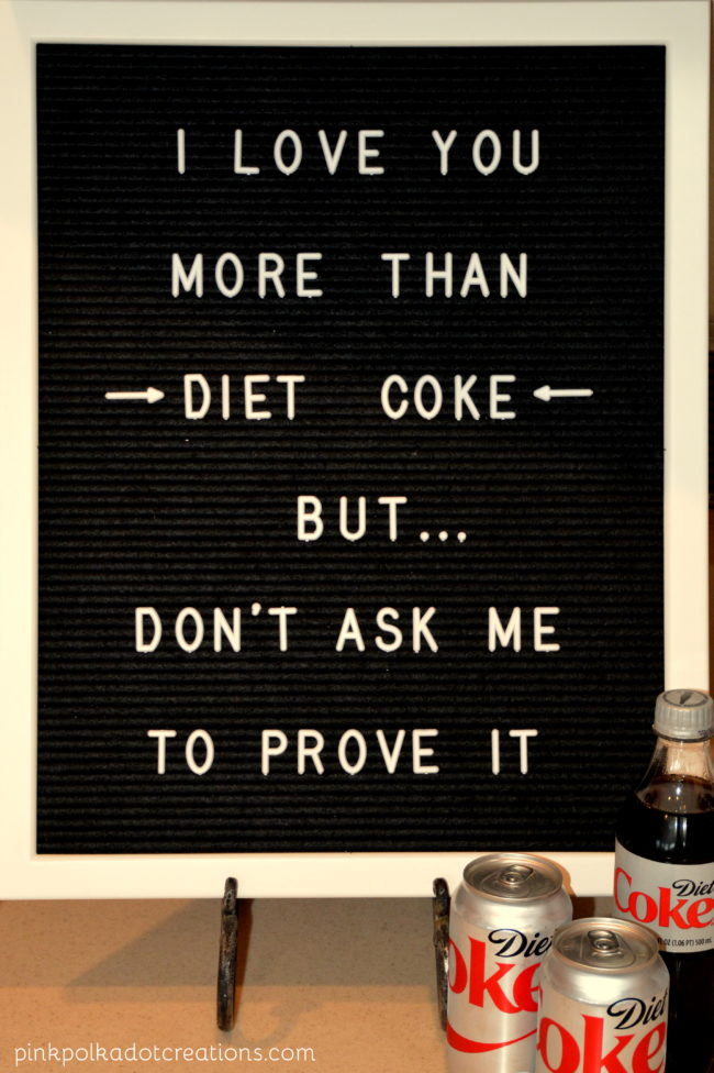 Letter Board Diet Coke  Pink Polka Dot Creations