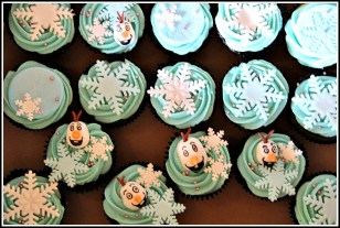 Frozen-themed Cupcakes