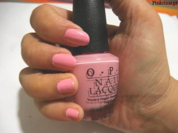 OPI nail lacquer pink friday