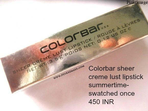 Colorbar-sheer-creme-lust-lipstick-summertime-580x435