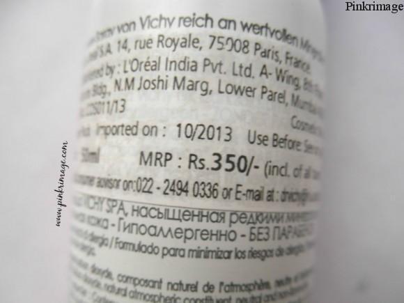 Vichy Thermal Spa Water benefits