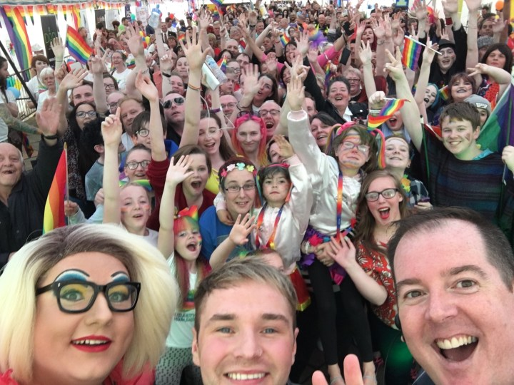 Crowds enjoy the first ever Fife Pride in Kirkcaldy