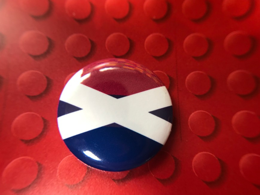 Bisexual Saltire Badge (25mm)