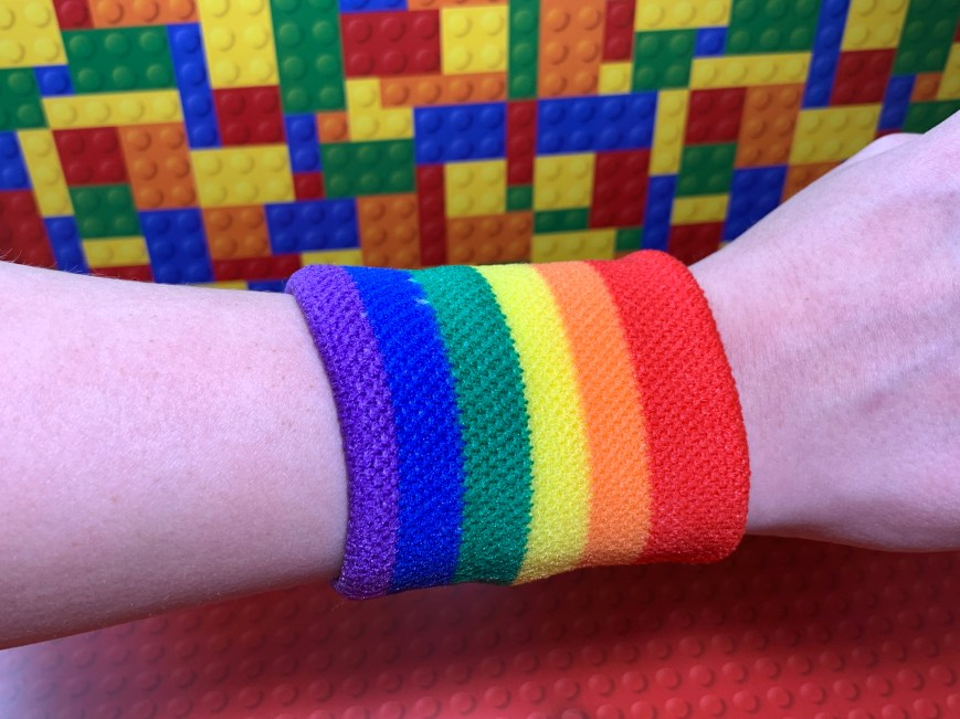 Rainbow sweatband (single)