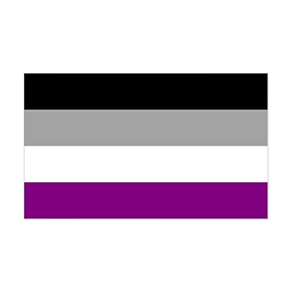 Asexual Flag 5ft x 3ft