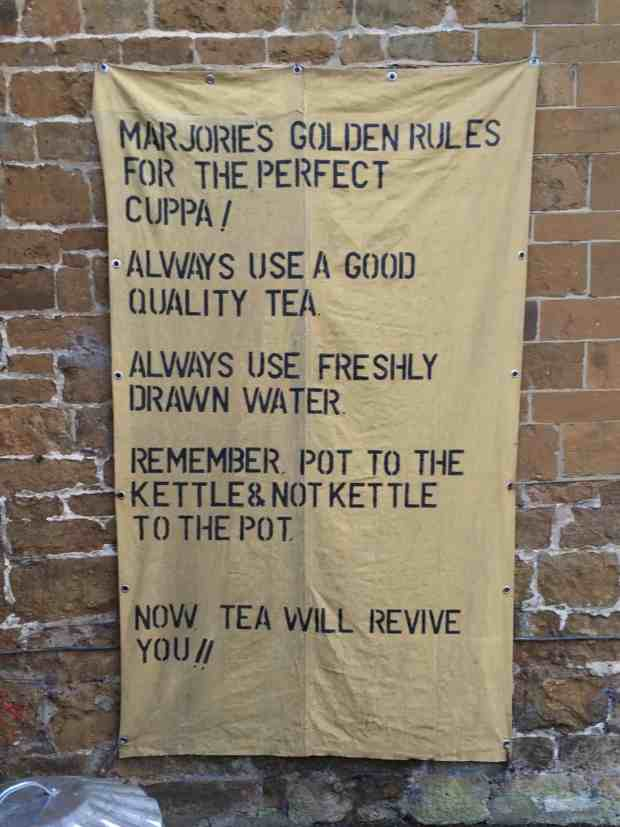 Marjorie's Golden Rules for the Perfect Cuppa!