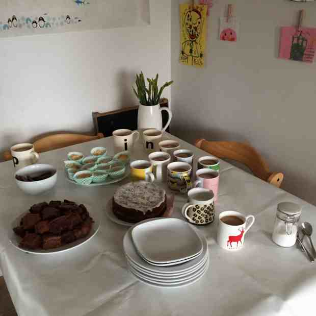 Tea and Cakes for our Swishing Party