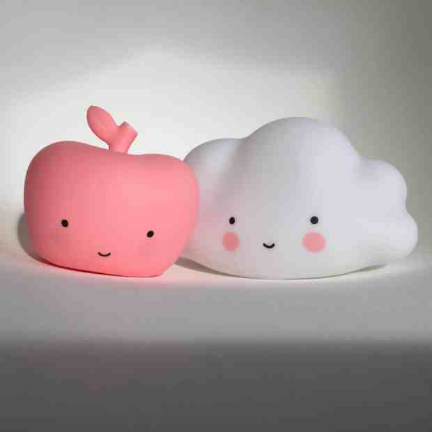 A Little Lovely Company apple and cloud nightlights