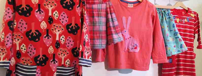 Piccalilly organic kids clothes including dresses, skirts and an appliqué t-shirt