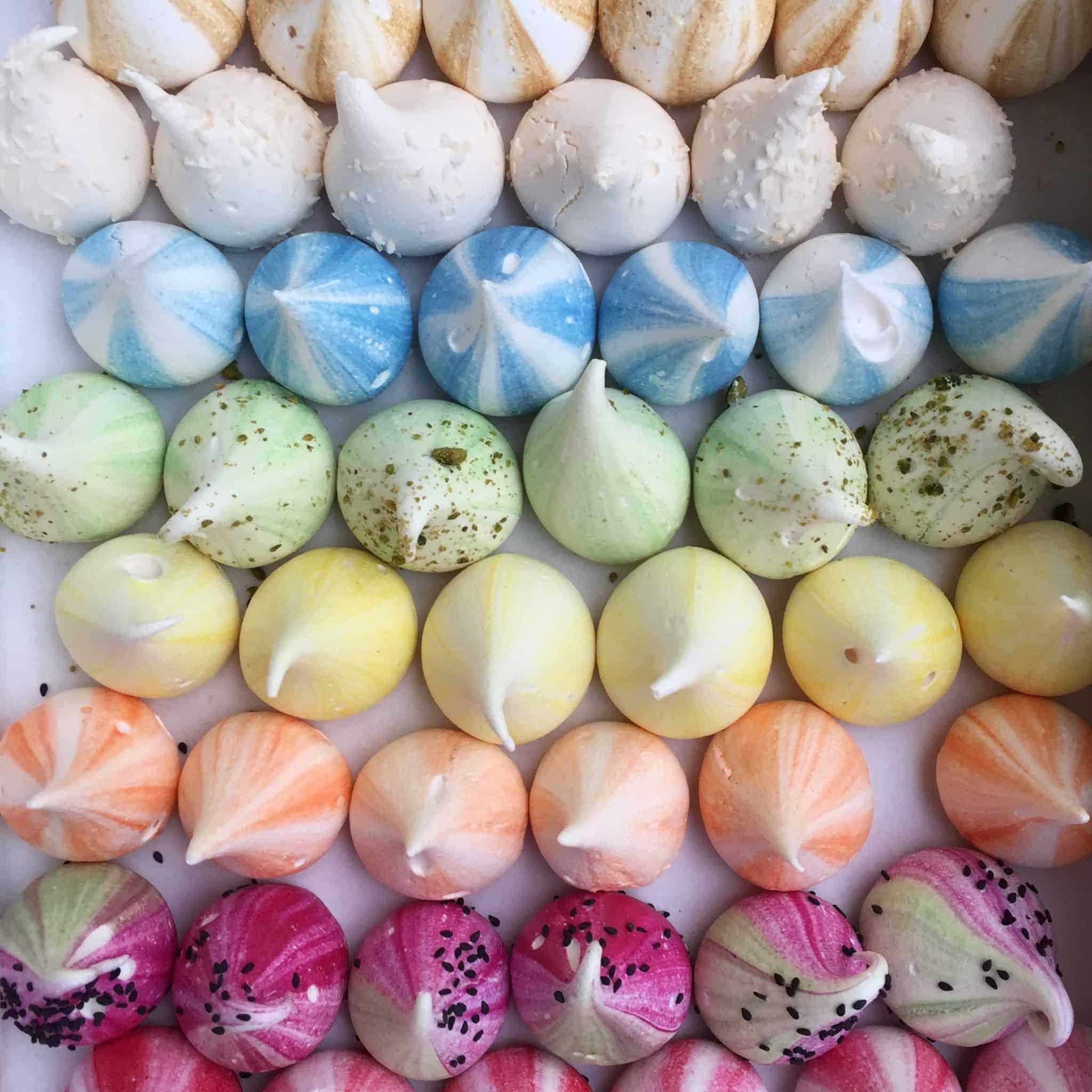 Beautiful meringues