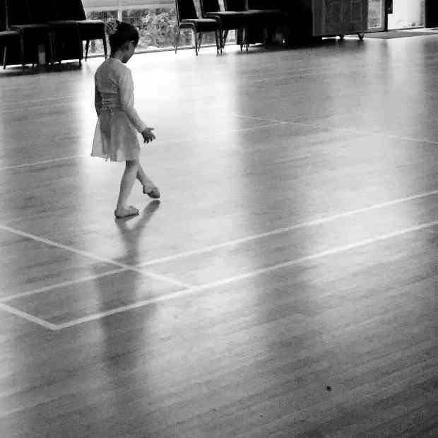Ava practicing her ballet
