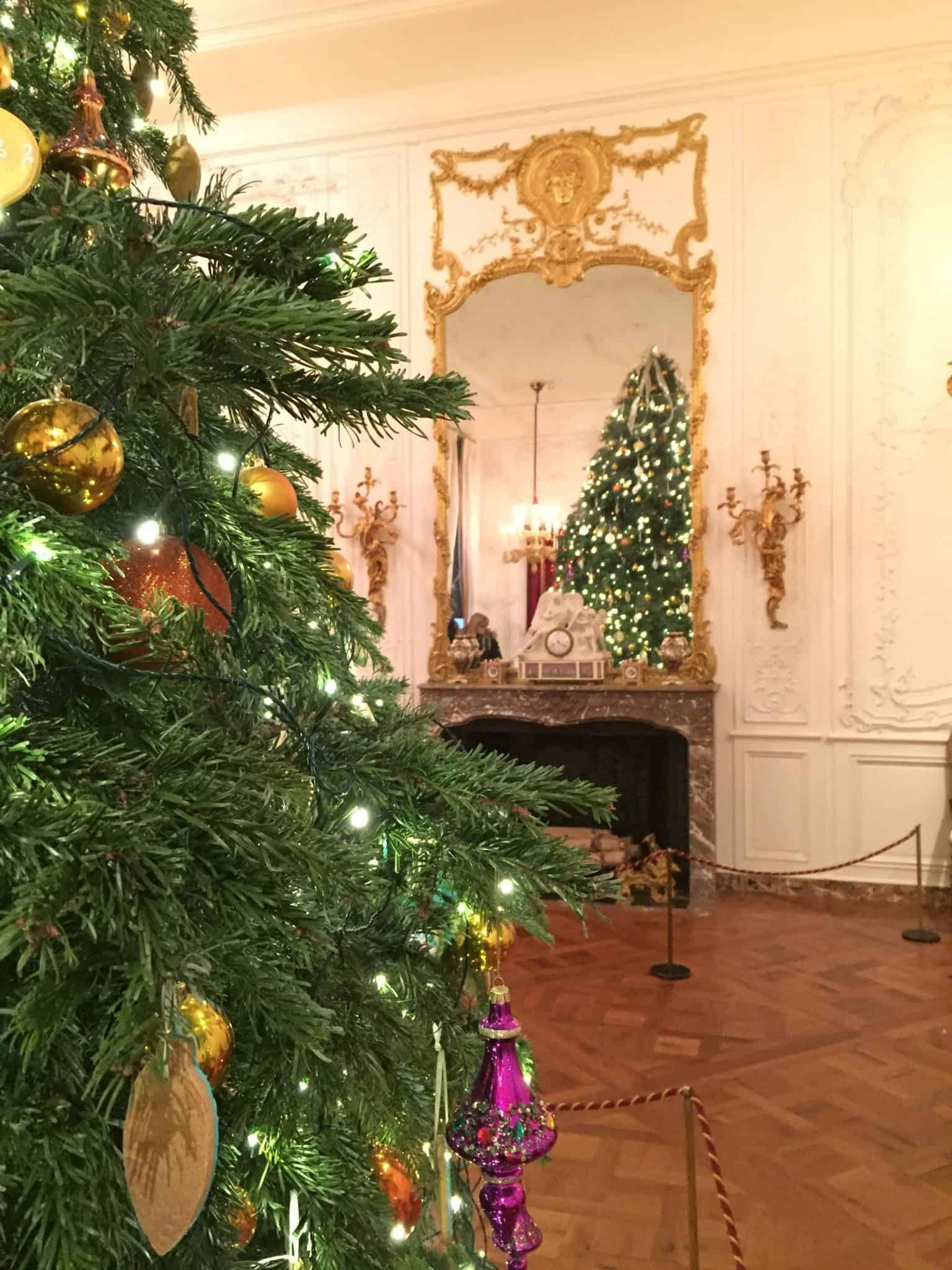 Christmas tree at Waddesdon Manor