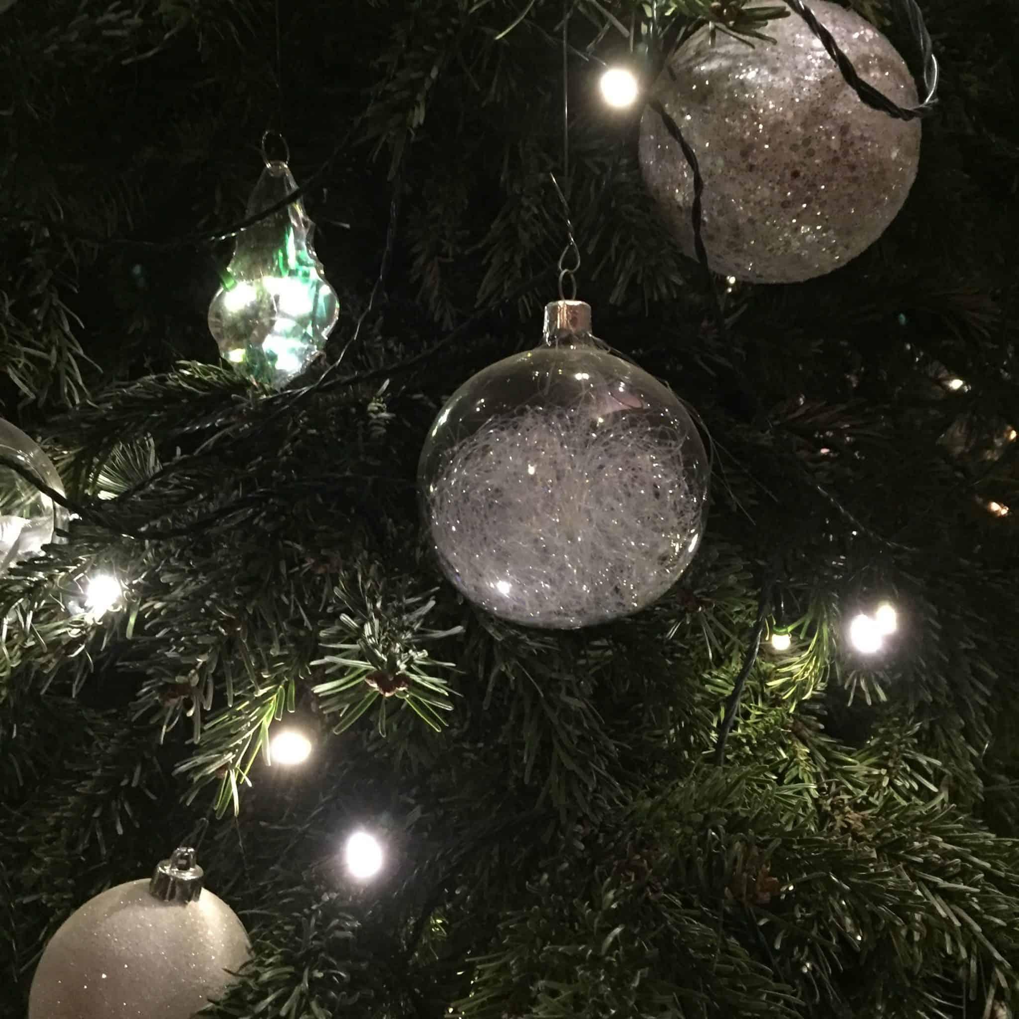 Christmas tree decorations at Waddesdon Manor