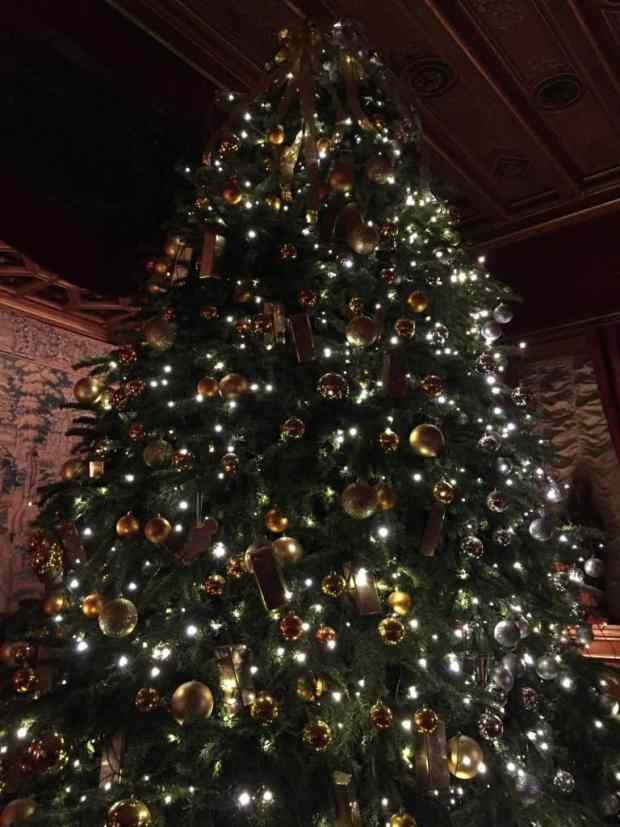 Magnificent Christmas tree at Waddesdon Manor