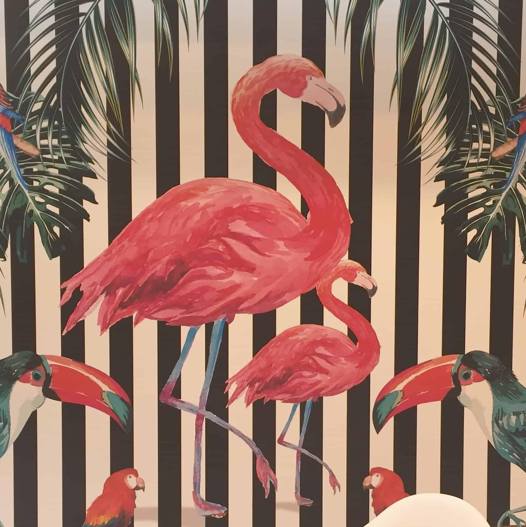 Flamingo mural at the Spring Fair