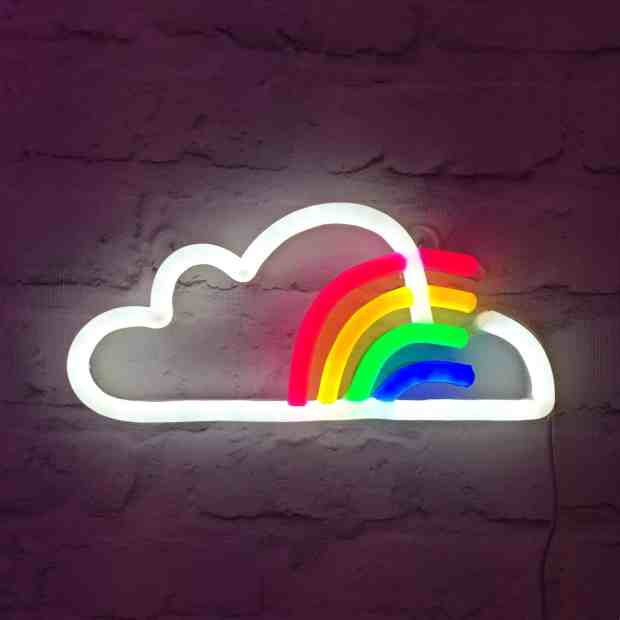 Neon cloud with rainbow from Love Inc