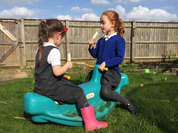 The first ice creams of spring