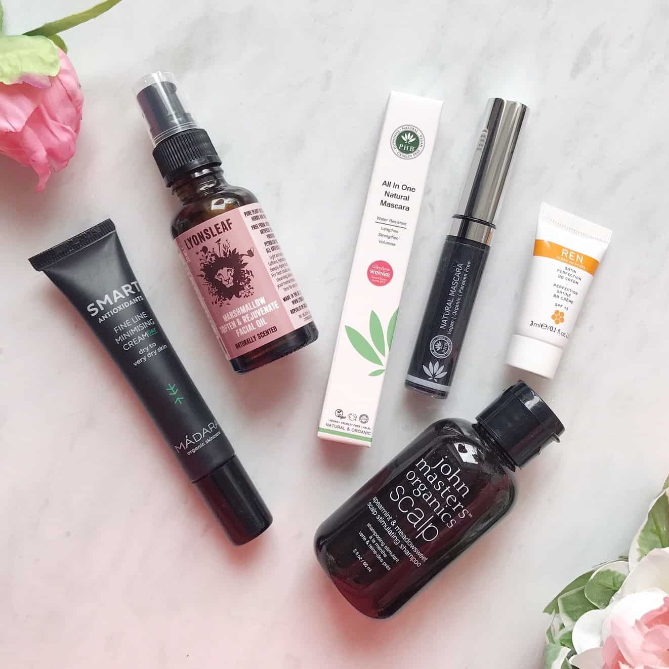 The contents of the July Love Lula Beauty Box