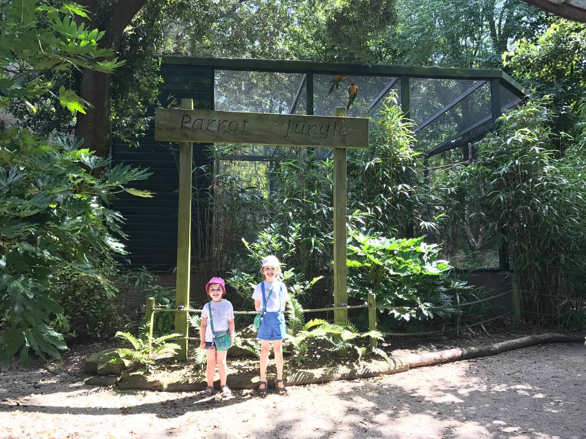 Thea and Ava at Paradise Park Wildlife Sanctuary