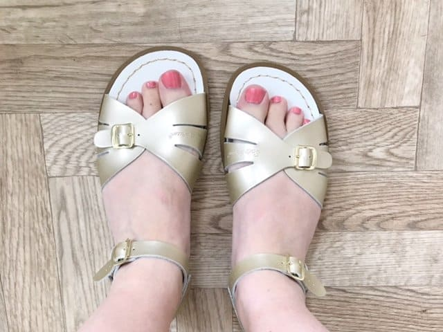 Salt-Water Original Ladies Sandals in Rose Gold Water Friendly and Washable