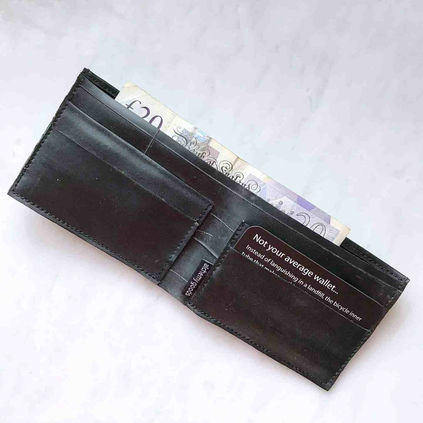 Alchemy Goods men's wallet made from recycled inner tubes - the perfect ethical gift for him