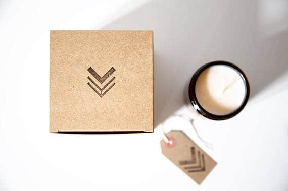 Unique Mother's Day Gift Ideas: OctoLondon Soy Wax Candle in Recycled gift box