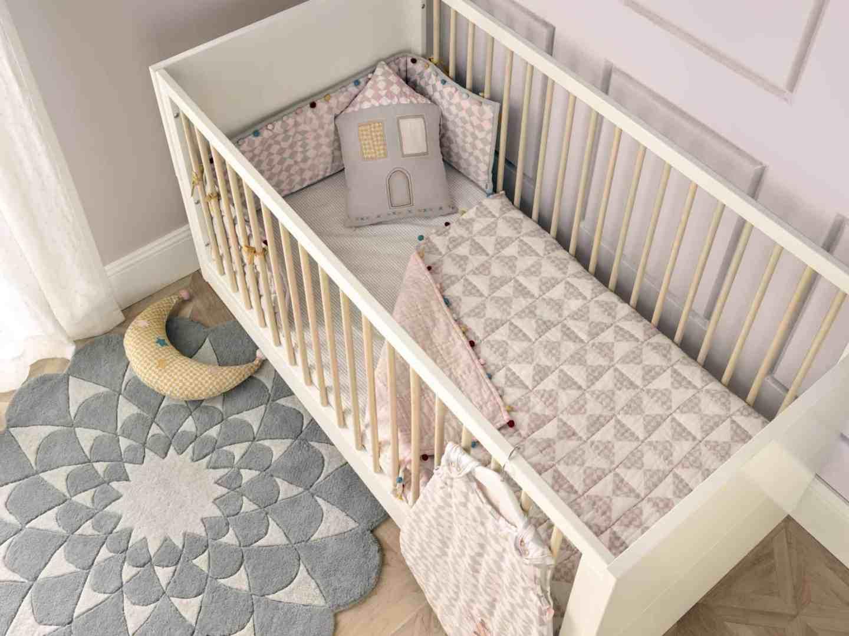 Niki Jones at Mamas & Papas cot, rug and cushions