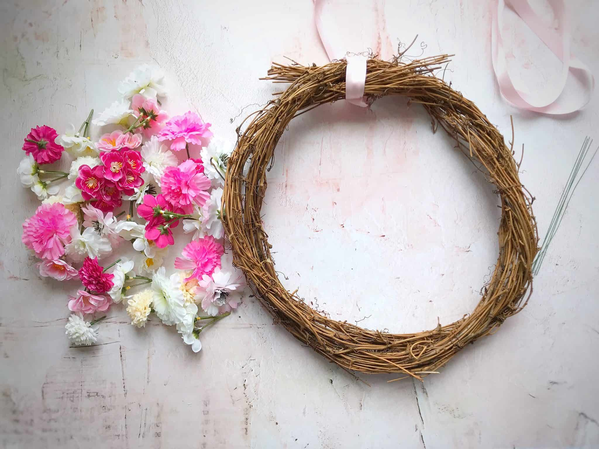 What you need to make an easy spring wreath in minutes