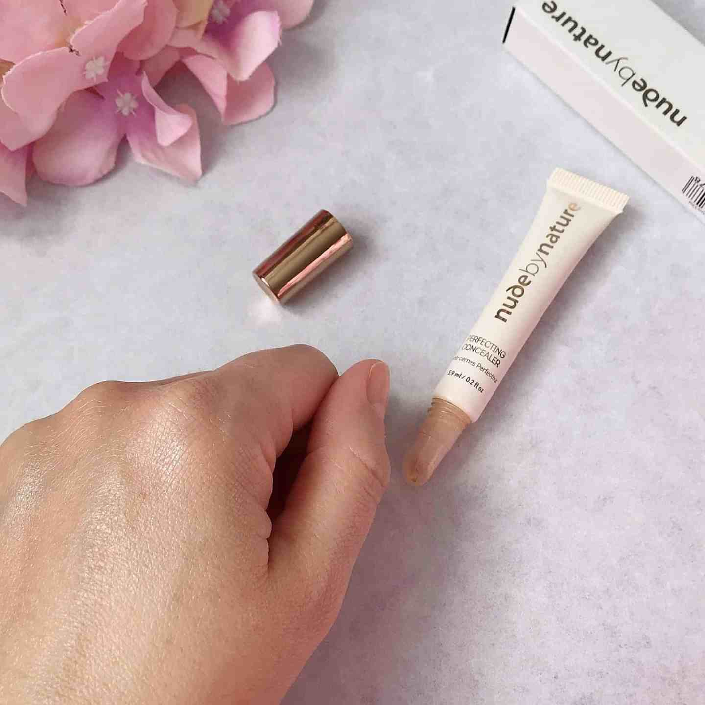 Nude by Nature Perfecting Concealer blended