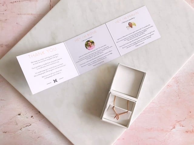 Sacet Ethical Jewellery packaging