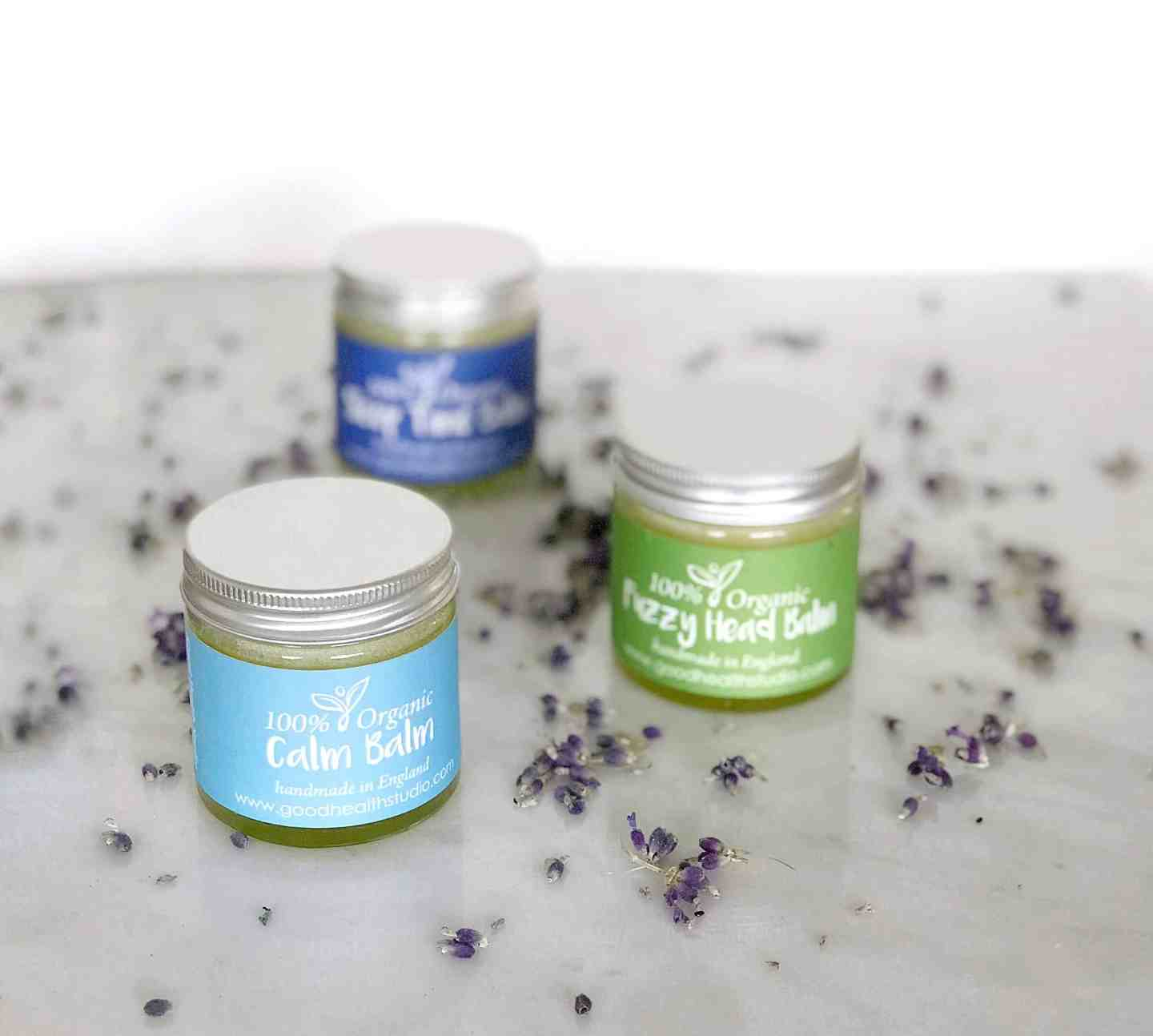 100% Organic Balms to help sleep and relaxation