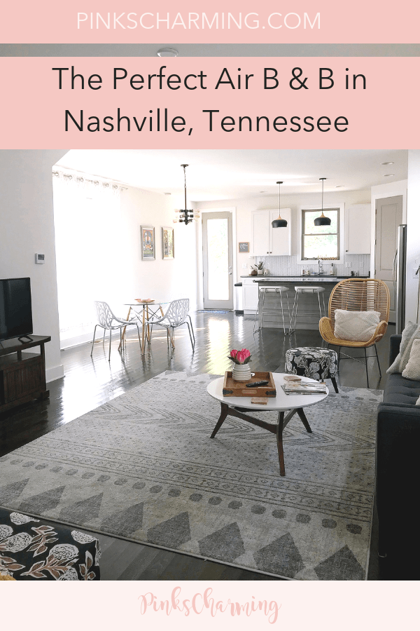 Take a peek inside the perfect Air B & B in Nashville. We found this gem online and were blown away by the design detail and how comfy it is.
