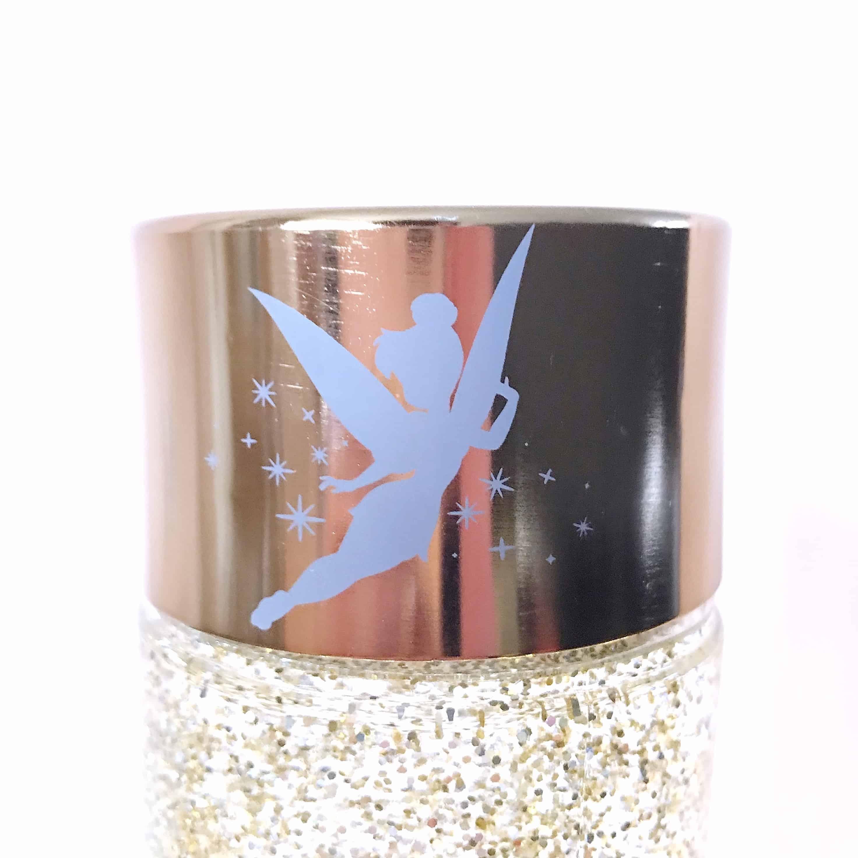 Tinkerbell motif on glitter lamp
