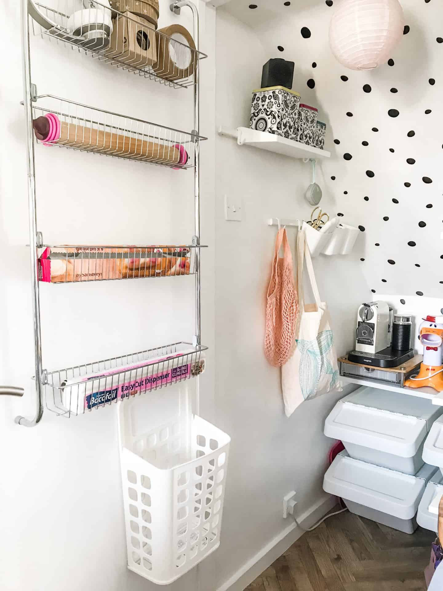 how to organise a small walk in pantry