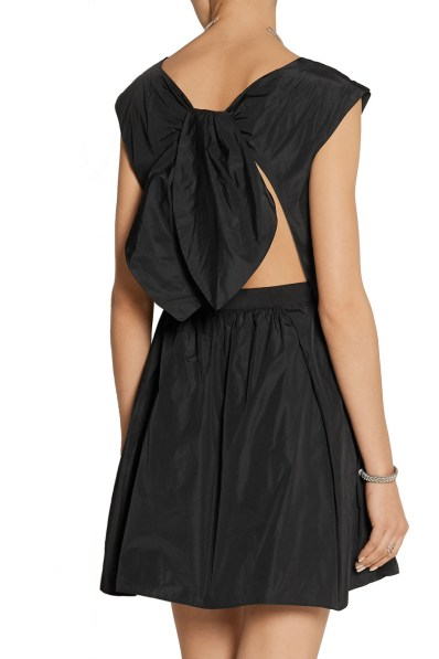 CARVEN Open-back taffeta mini dress