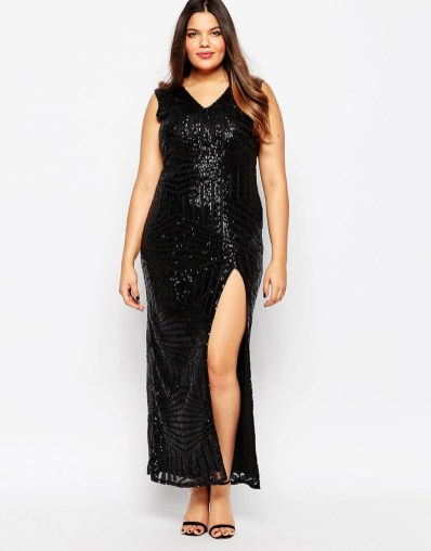Club L Plus Sequin Embellished Maxi Dress