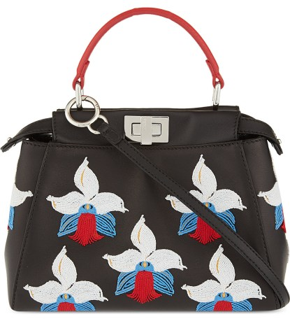 Fendi Peekaboo Orchid mini bag