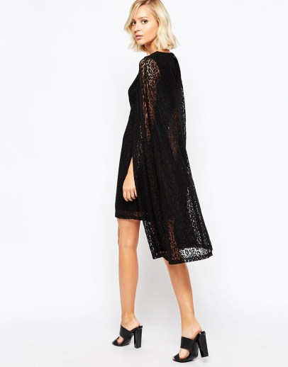 Lavish Alice Lace Cape Mini Dress