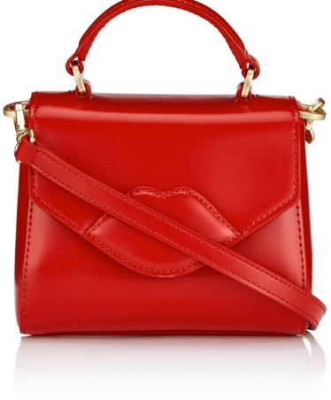 Lulu Guinness Red Leather Mini Lips Bag