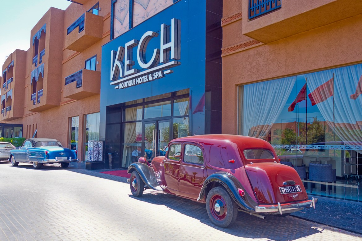Front entrance of Kech Hotel & Spa, Marrakech