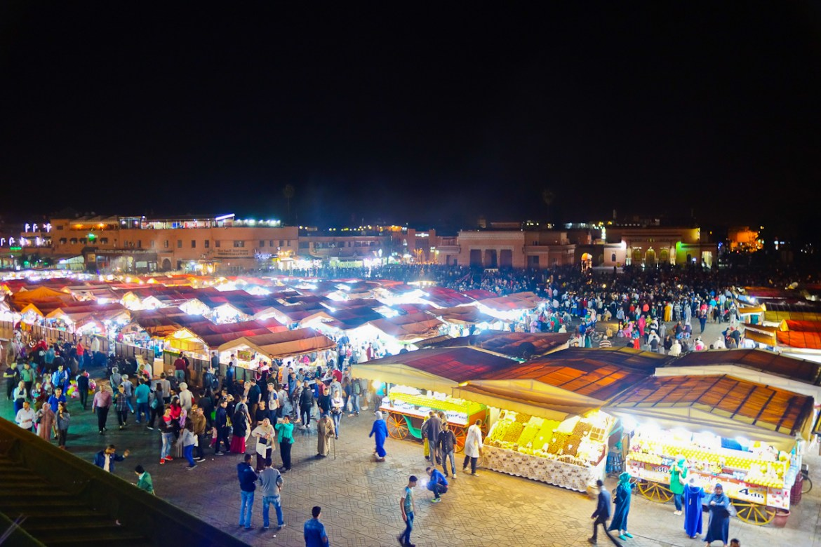 Jemâa el-Fnaa by night, Marrakech