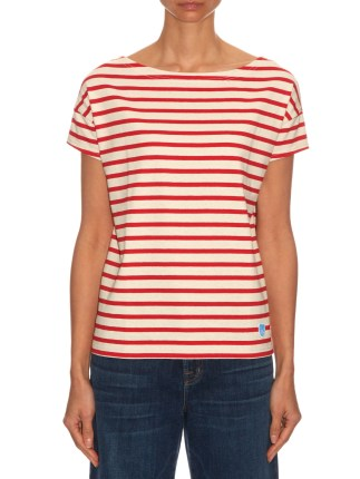 ORCIVAL Breton-stripe cotton T-shirt